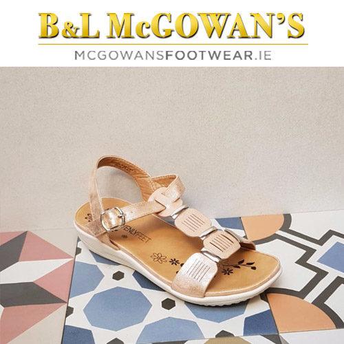 aab735be Heavenly Feet Georgia Ladies Sandal - Rose Gold | McGowans Footwear