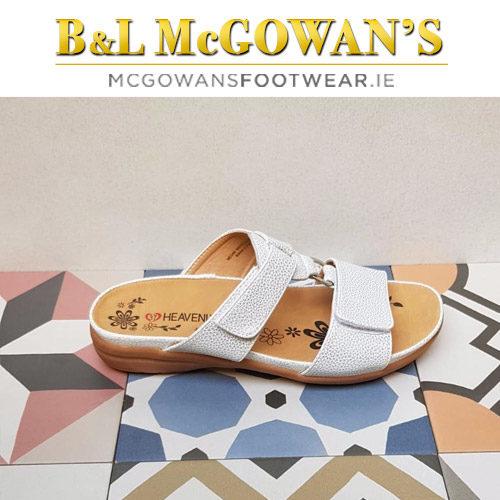 b0dad5e0 Heavenly Feet Megan Ladies Sandal - White/Silver | McGowans Footwear