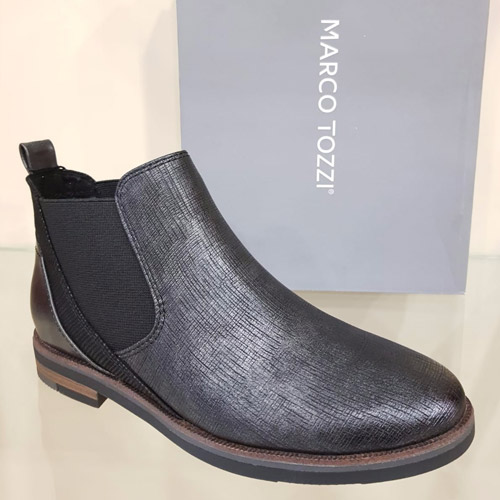 new arrival c407e 9a675 Marco Tozzi 25345 Pewter Ankle Boot