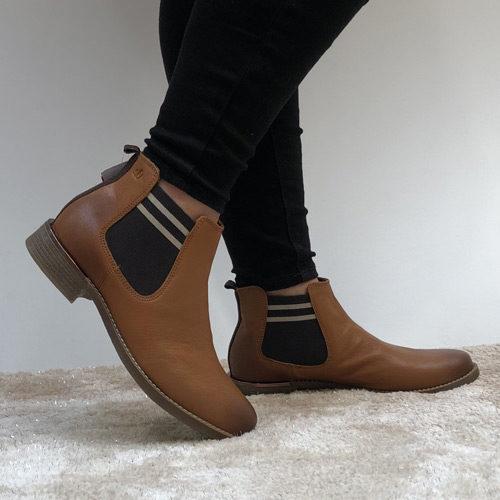 timeless design 8d33d d3571 s.Oliver 25335 Chelsea tan ankle boot