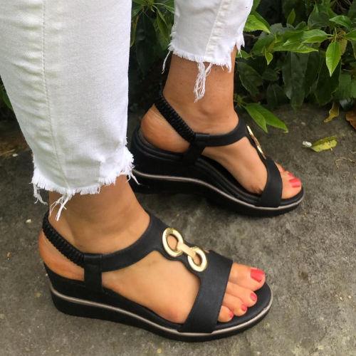 Heavenly Feet Milena Sandals - Black